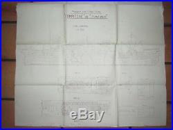 06e1 Plan Paquebot Compiègne Messageries Maritimes Chantiers De France Dunkerque