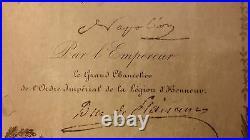 1088-autographe-napoléon Iii-lebrun-consul-légion D'honneur-empire-ardèche-1858