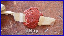 1366 GUERRE DE 100 ANS Parchemin médieval avec sceau armorié des comtes de Blois