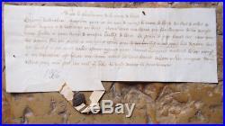1366 GUERRE DE 100 ANS Parchemin médieval avec sceau payement gages de guerre