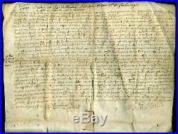 1387 Sous Charles VI Parchemin en peau, Bail par le Seigneur de Moulinier
