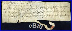1395 Sous Charles VI Parchemin en peau, à déterminer, avec cachet pendant