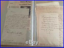 145 lettres manuscrites 19e savants, écrivains, politiques, journalistes etc