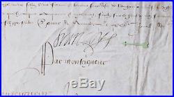 1582 PARCHEMIN signé par François de France, dernier fils du roi Henri II