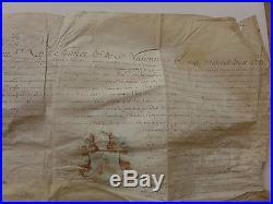 1696 lettre PARCHEMIN ANOBLISSEMENT signé LOUIS pour le ROI Louis XIV blason