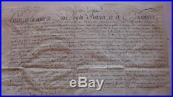 1702 PARCHEMIN MARINE, CAPITAINE LIEUTENANT de GALERE signé LOUIS pour L. XIV