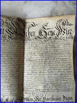 1750 PARCHEMIN MANUSCRIT ANCIEN DÉBUT XVIIIè SCEAU CACHET EN CIRE