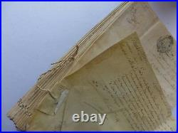 1757 important document PARCHEMIN 160 pages 2 autographes LOUIS