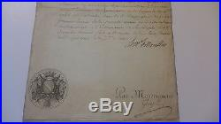 1773 Autographe Louis Duc de NOAILLES Maréchal Compagnie ECOSSAISE GARDE ROI