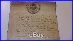 1776 Autographe Louis Duc de NOAILLES Maréchal Compagnie ECOSSAISE GARDE ROI