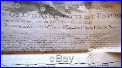 1789 GRAND ORIENT DE FRANCE Constitution loge de Castor et Pollux à St HYPOLITE