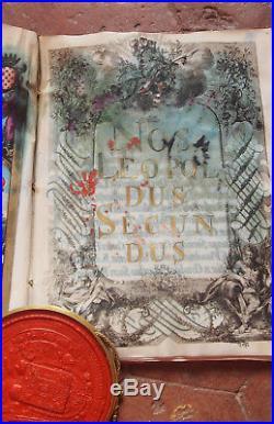 1791 BEAU DIPLOME D'ANOBLISSEMENT ACCORDE PAR LEOPOLD II Empereur D'AUTRICHE
