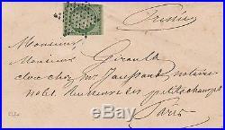 1852 15c N°2 Sur Lettre Ttb Signe Calves