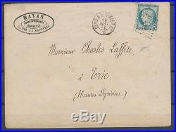 1871 18 Mai Commune de Paris Env. Havas obl PB2 CAD Paris Bordeaux RARE X1002