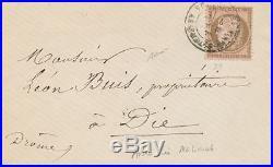 1873 Lettre N°58 10c Oblitéré ASSEMBLEE NATIONALE VERSAILLES SIGNE RARE P1711