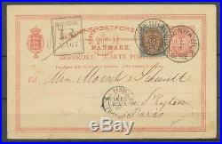 1890 CP Danemark en recommandée entier 10c + N°26 Superbe P2930