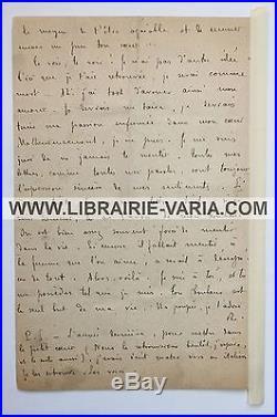 1906 Remy de Gourmont La plus belle lettre d'amour Georgette Avril LAS autograph