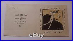 1912 rare carte voeux L'An Nouveau GASTON L. VUITTON no17/150 ASNIERES sur SEINE