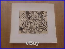 1935 DESSIN original Pierre de BELAY 1890 / 1947 Peintre de BRETAGNE autographe