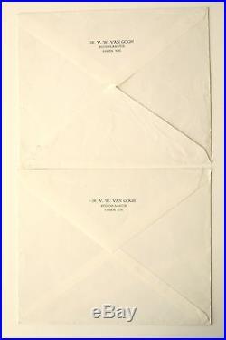 2 Lettres Tapuscrites signées Van Gogh peintre 1965 1967 + photo
