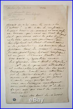 2 Lettres autographes signées Pauline Duchambge 1844