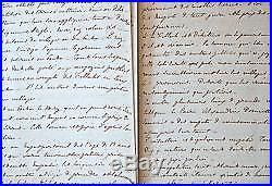 330 pages manuscrites d'un voyage en Egypte en 1843