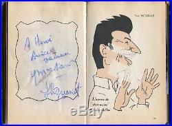 36 Autographes sur carnet Allo, allo! Ici, l'onde COCTEAU, PIAF, FERNANDEL, PAGNOL