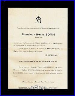 400a-l. A. S-henry Somm-peintre-aquarelliste-dessinateur-graveur-rouen-(1844-1907)