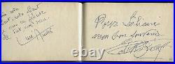 75 Autographes dont Greta GARBO Edith PIAF Jean GIONO sur Livre d'OR Très RARE