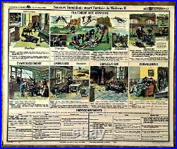 AFFICHE SCIENTIFIQUE 1900 MÉDECINE URGENCE SECOURISME par Dr GALTIER BOISSIERE