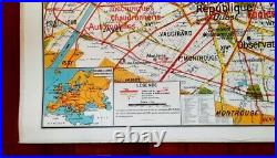 AFFICHE SCOLAIRE VIDAL LABLACHE N° 24 PARIS GRAND FORMAT Années 60 TB ETAT