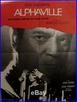 ALPHAVILLE (affiche originale film de Godard 60 x 80cm, photographie, 1965)