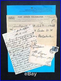 ANARCHIE Errico MALATESTA Lettre à Lecuyer + Télégramme à Zo d'Axa