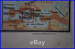 ANCIENNE CARTE SCOLAIRE VIDAL LABLACHE n° 30 ITALIE