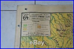 ANCIENNE CARTE SCOLAIRE VIDAL LABLACHE n° 64 ALPES FRANCAISES REGION MEDITERRANE