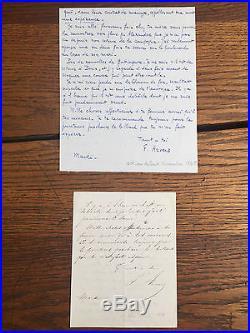 ARVERS (Félix). Lettre autographe signée (octobre-novembre 1845)