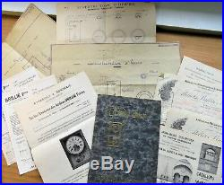 ATELIERS BRILLIÉ FRÈRES PARIS Lettres dessins originaux 1930 (Horloge Publicité)