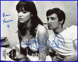 AUTOGRAPHES SUR PHOTO 20 x 25 de JP. BELMONDO + A. KARINA (Photo Proof)