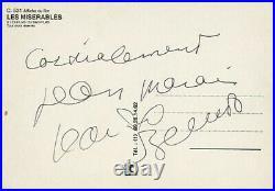 AUTOGRAPHES de Jean MARAIS + Jean-Paul BELMONDO (signed in person)