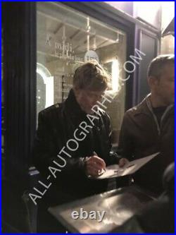 AUTOGRAPHE SUR PHOTO 20 x 25 de Robert REDFORD (signed in person + video proof)