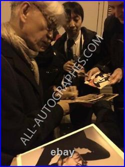 AUTOGRAPHE SUR PHOTO 20 x 25 de Ryuichi SAKAMOTO signed in person + video proof