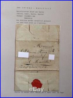 AVO! 930 Lettre purifiée disinfected cover 1819 Smyrne colonies par Marseille