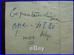A 4 Lettre Manuscrit De Georges Brassens Adresse A Jeanne Plante 1952