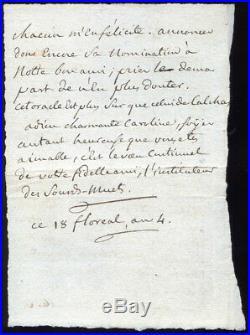Abbé SICARD, l'Instituteur des Sourds-Muets. Lettre Autographe, 1796. De Sèze