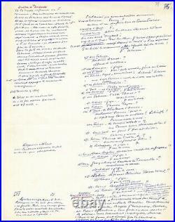 Abel GANCE 2 pages manuscrites autographes dialogues projets de films