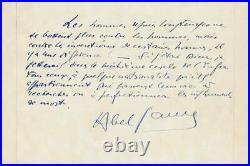 Abel GANCE autographe / RARE & BELLE PIECE