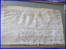 Acte parchemin vers 1350 medieval