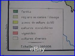 Ae988 Affiche Scolaire Ecole Rossignol Peche En France Agriculture Et Elevage