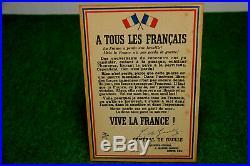 Affiche De L Appel Du 18 Juin 1940 General De Gaulle Ffi Carcassonne