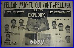 Affiche Guerre d'Algérie originale OAS ou propagande 1959 1960